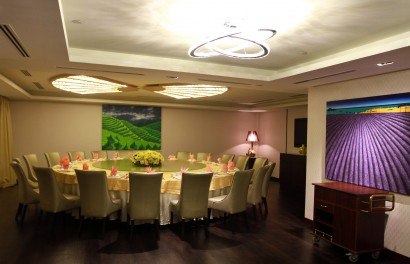 One of the five VIP rooms available at Grand Harbour Private Kitchen.