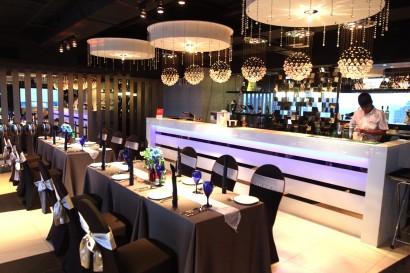 The Cristallo restaurant has a cosy setting.