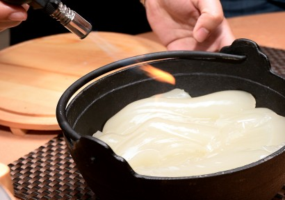 The collagen jelly, once melted, gives the soup a thick texture and is mildly sweet.