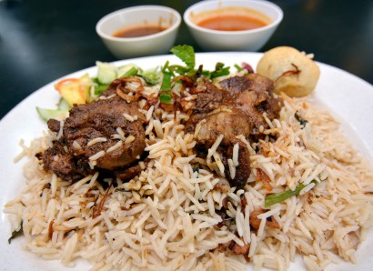 Top quality ingredients The lamb briyani is flavourful, especially when eaten with high-grade basmati rice.