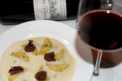 Unique technique The taste of potato ravioli with white truffle is further enhanced with 2006 Château Cantemerle.