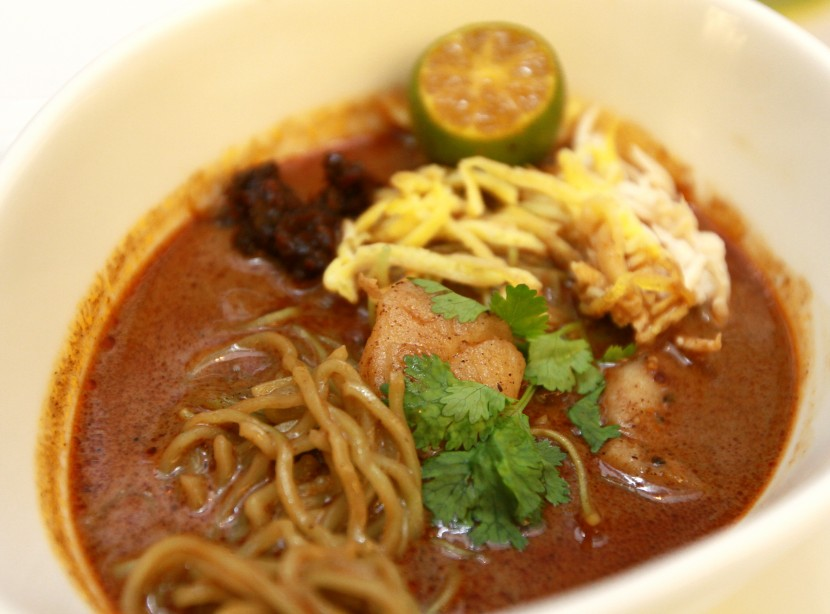 Hot and spicy: The Scallop Sarawak Laksa comprises a complex soup that is peppery and rich.