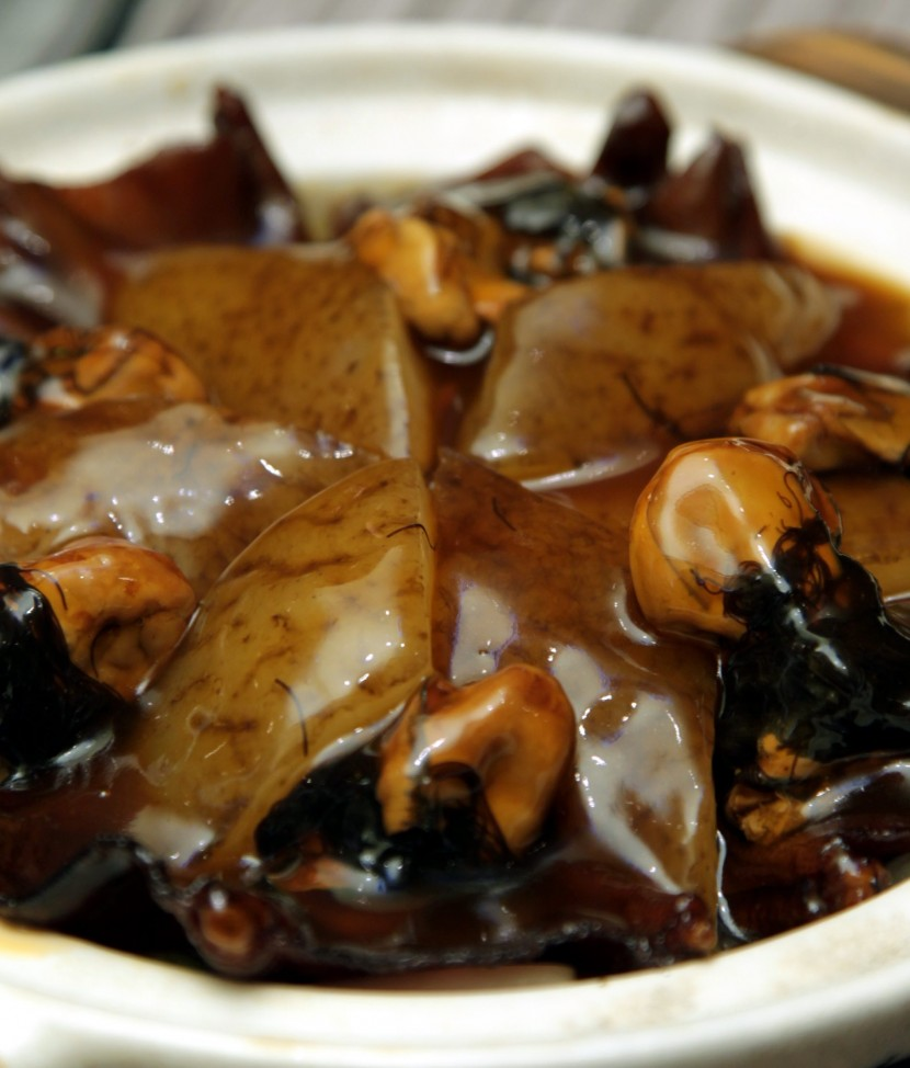 Properity pot: Claypot Stewed Sea Cucumber with Dried Oyster, Goose Web and Fatt Choy is a popular dish for the Lunar New Year.