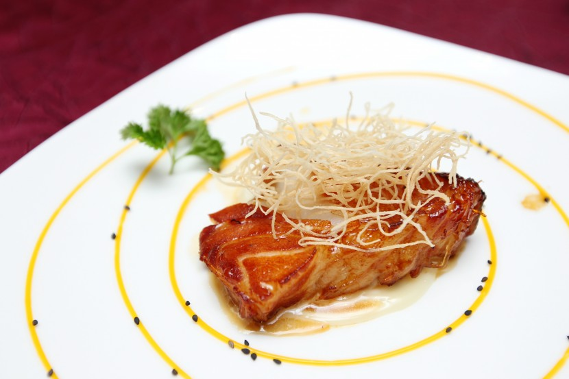 Special: Leong bakes the cod fish with caviar to give it a different twist.