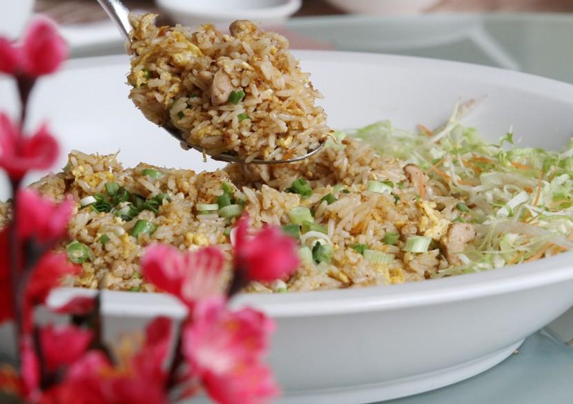Alcohol-free: X.O. Fried Rice with Seafood.