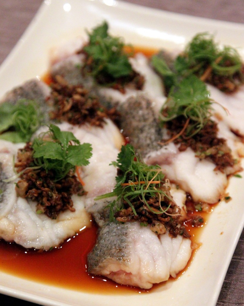 Fresh and tasty:The Steamed Tiger Grouper Chunks with Pickled Vegetable, Dried Shrimp and Chilli is very likeable.