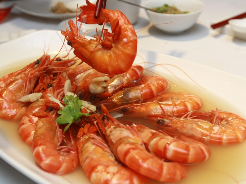 Juicy: Tiger Prawn with Chinese Herbs.