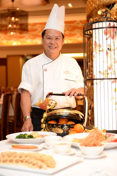 Top man: Chef Wong and his team have whipped up traditional delights for this Chinese New Year.