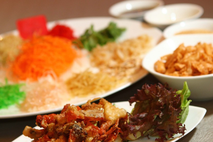 Slightly different: The Yee Sang with Crispy Soft Shell Crabs is an interesting treat.