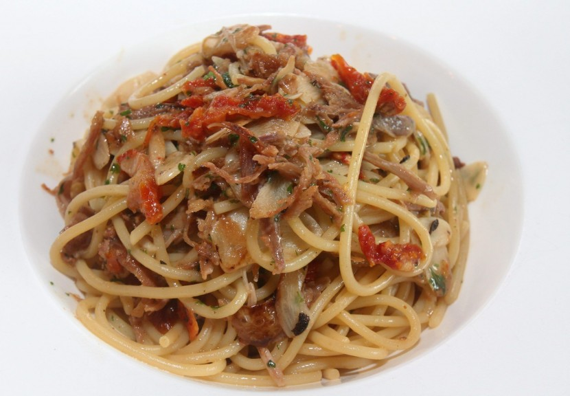 Interesting dish: The 'Anatra' pasta consists of pulled duck confit, parsley and sun-dried tomatoes.