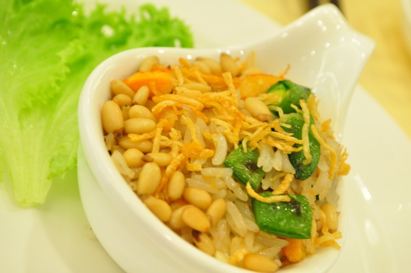 Something different: Harikrishna described the Crab Fried Rice as having a taste of the seaside with a nice salty tang.