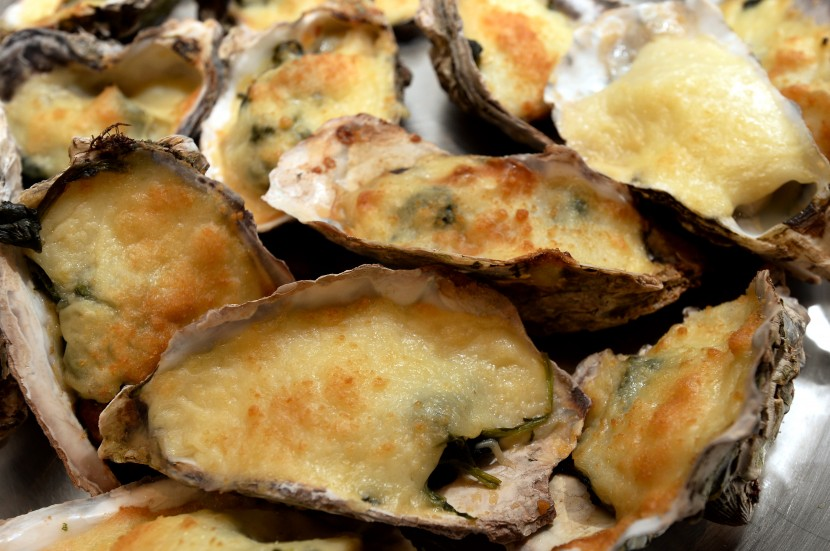 Popular dish: Baked Oysters served fresh at the hot section.