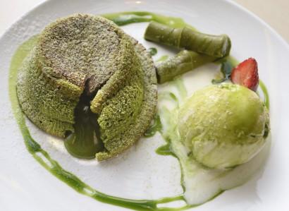 Something green Matcha Lava Cake.