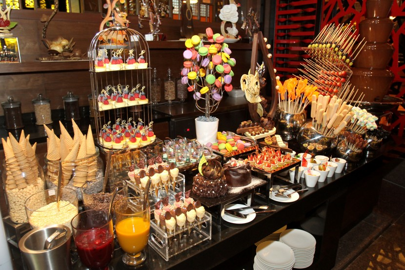 An assortment of pastries, macarons, cakes, kuih-muih among others are available during The Resort Cafe's buffet.