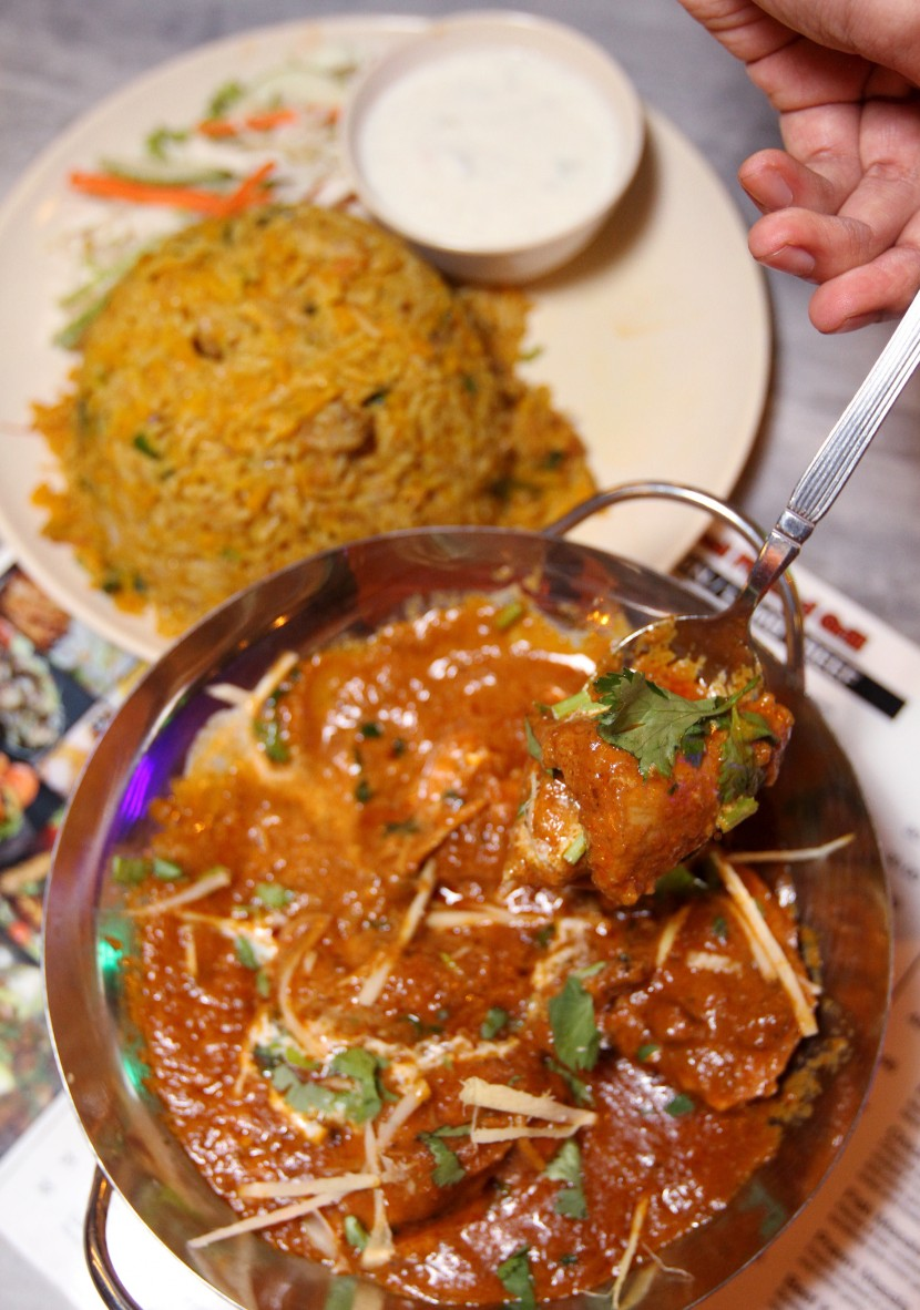 Decadent: Butter Chicken Karahi (RM35) with a side of fragrant Mutton Briyani.