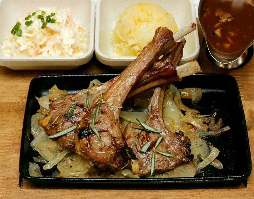 Juicy: The Lamb Cutlets are marinated with garlic and rosemary and can be paired with a selection of sauces.
