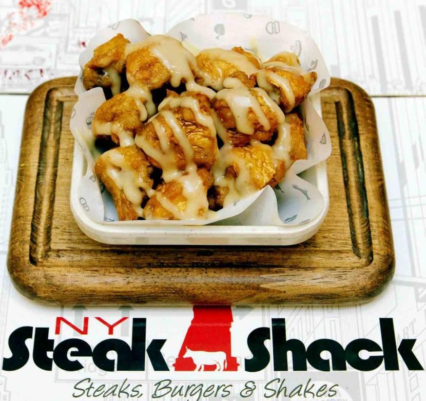 NY Steak Shack's fried mushrooms.