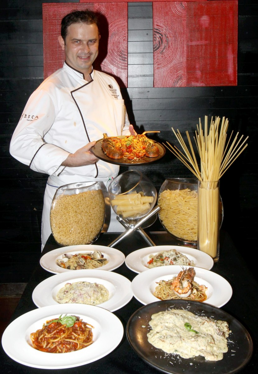 Pastamania promotion at PJ Hilton Uncle Chilli's by guest chef Massimo Zampar.