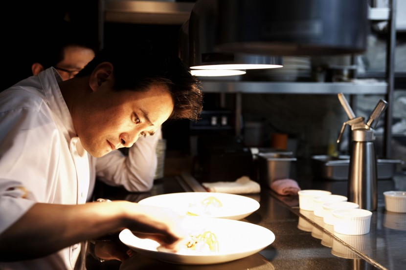 Chef Edward Kwon pays great attention to detail in the food he cooks, and serves his customers.