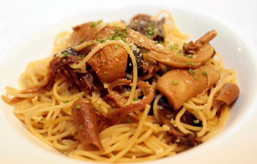 Light dish: The Fedellini Pasta with Porcini and Wild Mushroom is not too creamy.