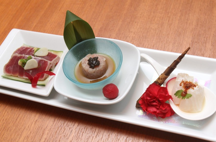 Sweet ending: Nobu-style dessert arrives in the form of Green Tea Shaved Iced with caramelised azuki beans, green tea syrup and shiso jelly.
