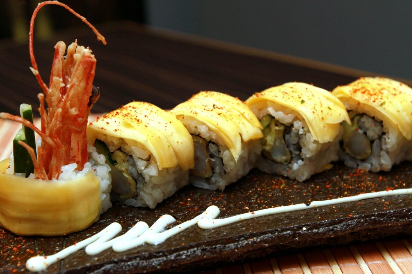 The Jackfruit Ebi Maki may have a strong jackfruit smell, but it adds a flavour.