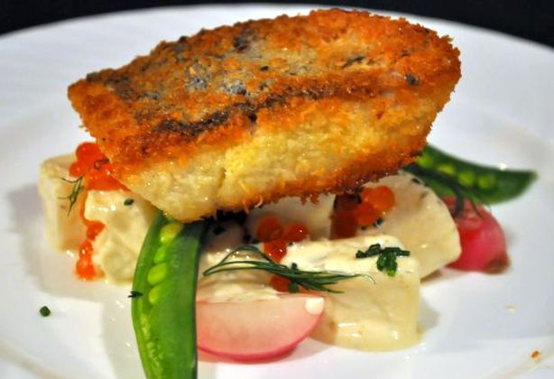 Fried Fish with Summer Potato
