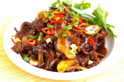 Fried Mutton in Fragrant Sauce