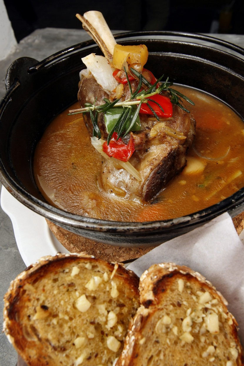 The English Lamb Stew in Hot Pot.