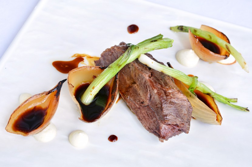 The Braised Wagyu Beef Cheek with Onion Cream and Dark Soy Glaze melts in the mouth and packs an umami punch.