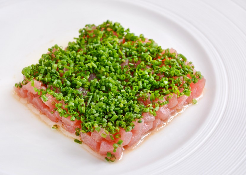 The Premium Grade Tuna Loin offers an exquisite taste with its Soy Sauce and White Truffle Oil Emulsion.