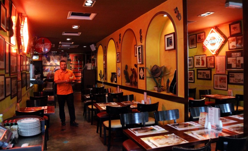 The interior of Las Carretas Mexican Restaurant and Bar in Subang Jaya exudes a cosy yet classy feel.