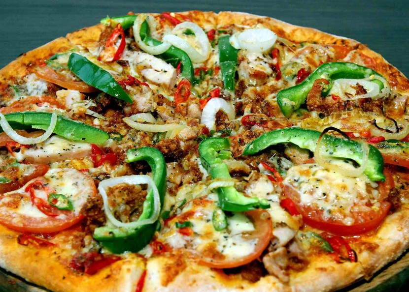 The spicy chicken pizza bursting with peppers and chilli that only inflicts a mild burn.