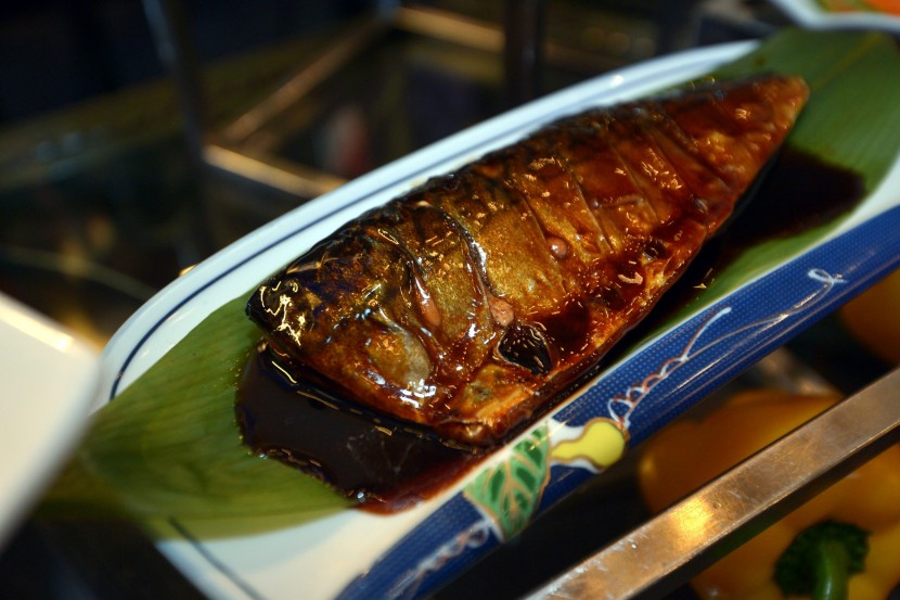 Grilled Saba with Teriyaki Sauce,a fish which is known for its sweetness.