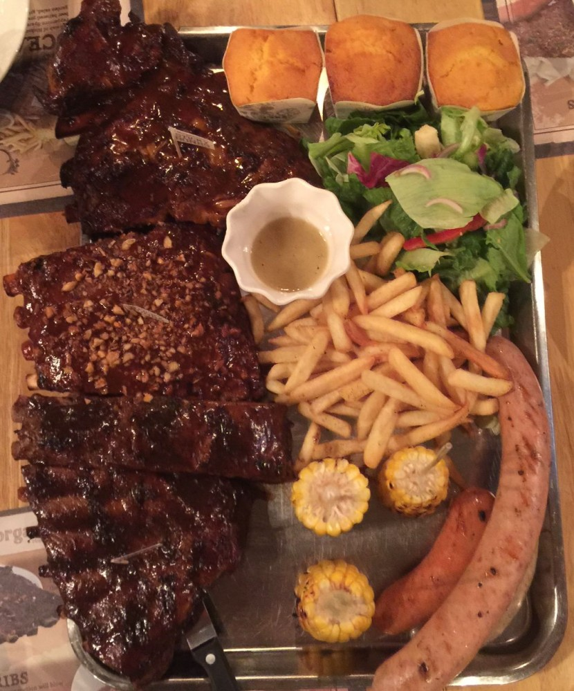 So much (sinful) goodness … the Morganfield's Ribs Sampler for those who can't decide which flavour of sticky bones to get.