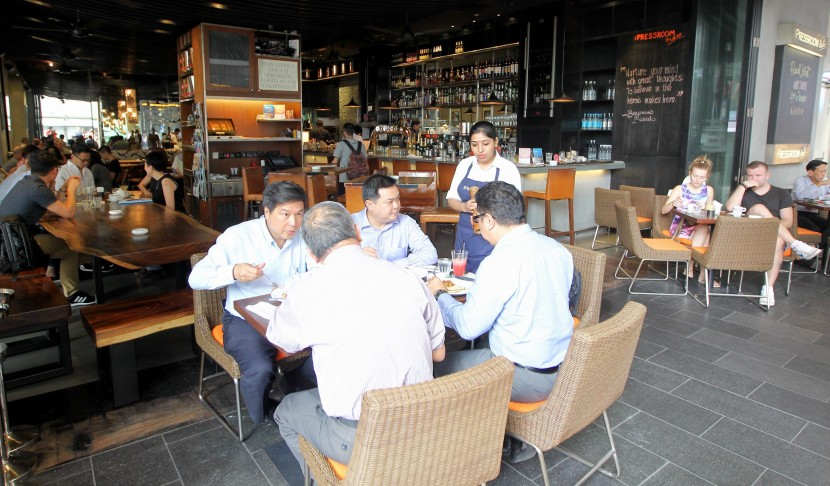 The Press Room Bistro has a rustic and clean interior for a relaxing and friendly atmosphere.