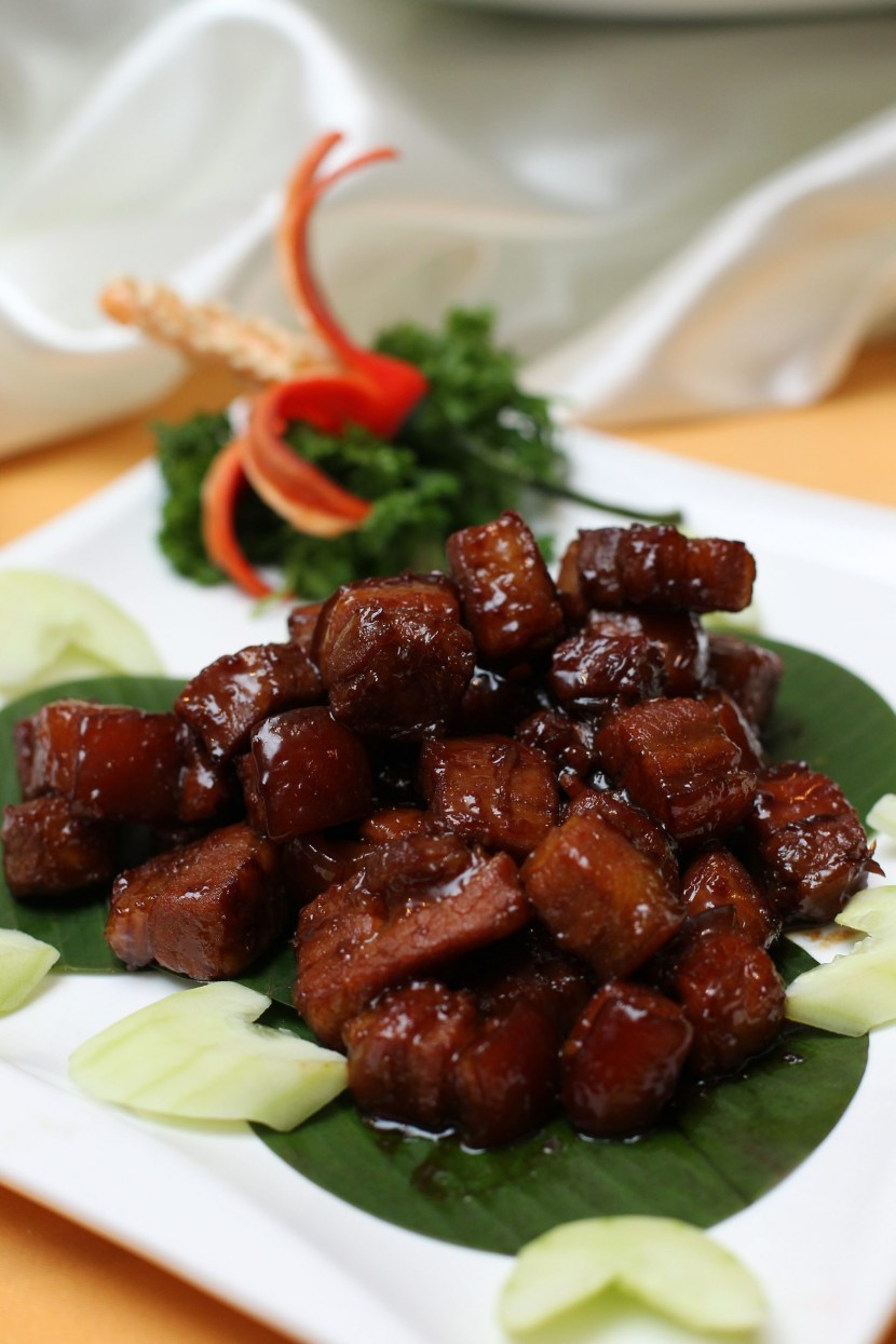The Stewed Pork Belly Special Sauce came dressed in thick sweet barbecue sauce, a sauce that was created by Chef Lam himself.