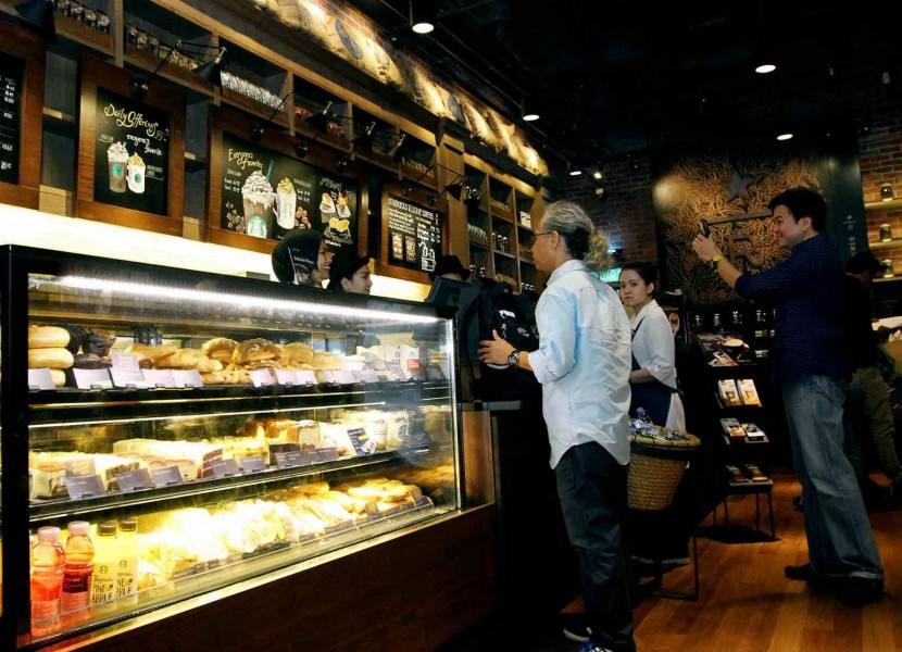 Starbucks Reserve customers can still get their favourite drinks such as frappuccino, latte and mocha, or sandwiches, pastries and cakes from Starbucks' food menu.