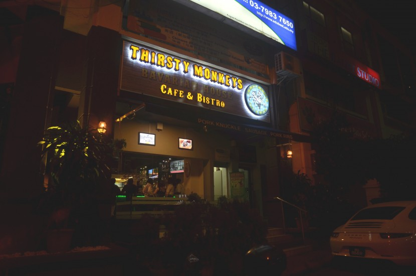 The exterior of Thirsty Monkeys.