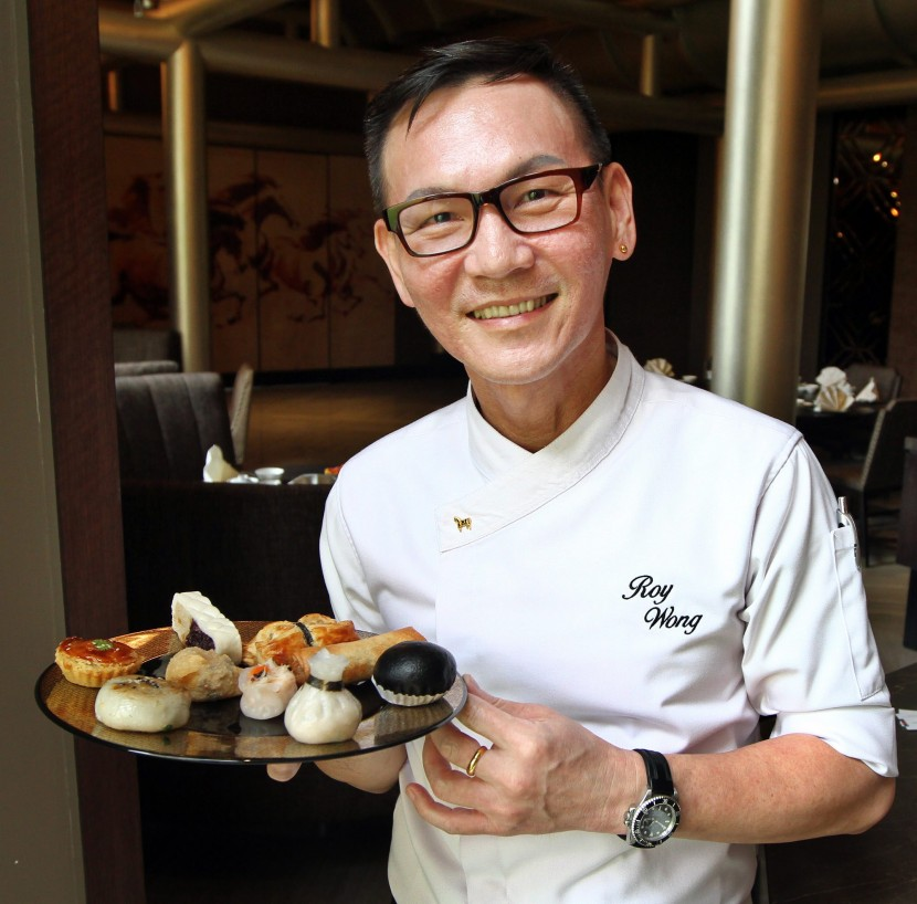 Wong with his dim sum creations.