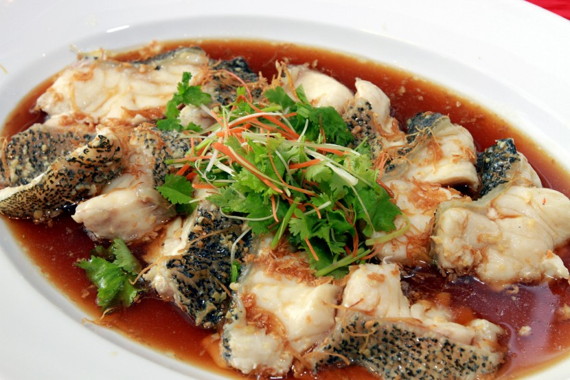 The Steamed Pearl Tiger Grouper.