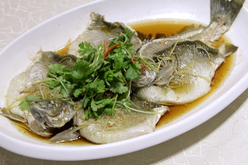 The steamed Australia jade perch fish is fresh.