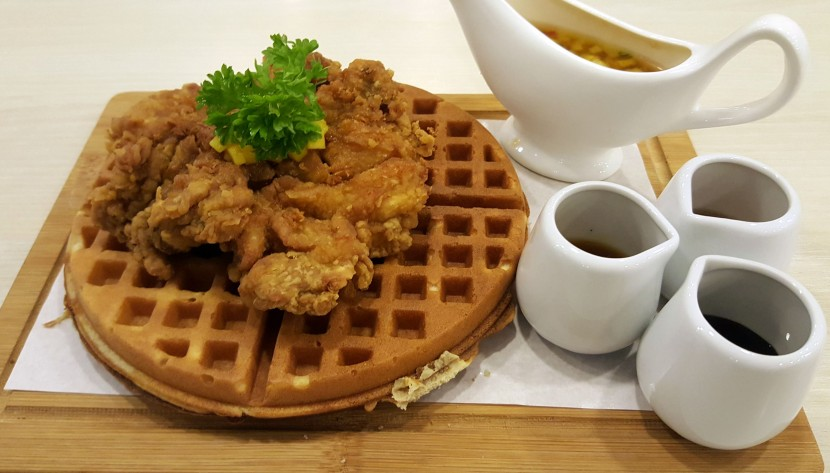 Waffle with Fried Chicken is a blend of sweet and savoury elements.
