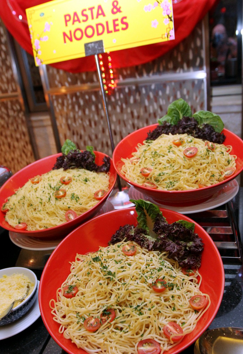 The various pasta noodles to choose from to go with their very own Asian Seafood Butter sauce.