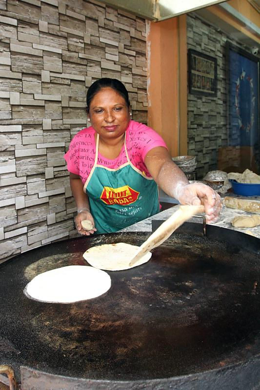 About 500 chapatis are made on a good day at Authentic Chapati Hut