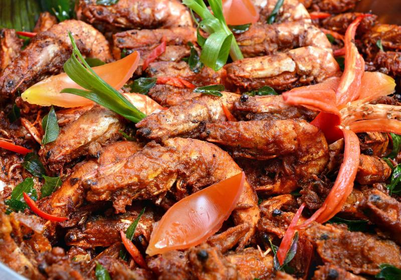 Crustacean lovers would enjoy the Kedah specialty, Udang Berempah.