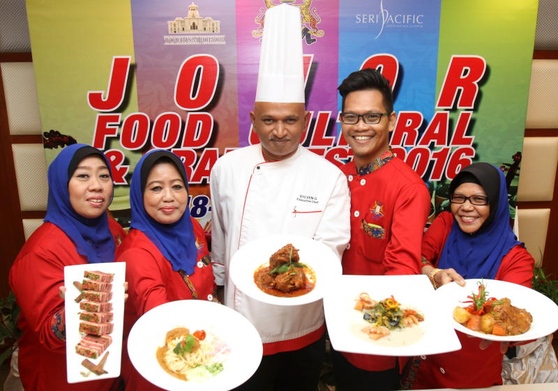 Kusha Haron (left) with her team from Johor will work closely with Seri Pacific Hotel Kuala Lumpur's kitchen team for the Johor Food & Cultural Festival.