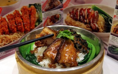 The pork belly and preserved mustard leaves on rice is a best seller.