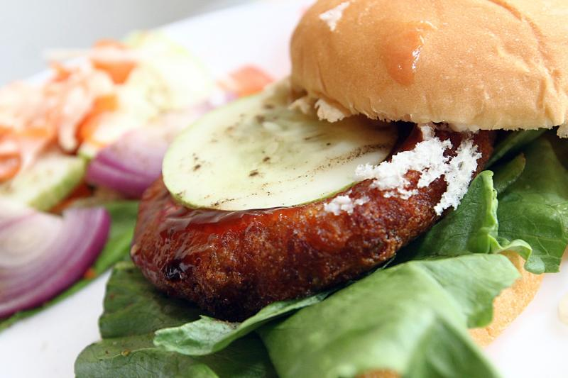 The restaurant has began experimenting with food and have come up with a paneer burger