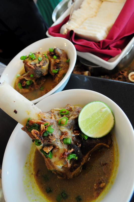 A hearty choice of soups like oxtail and lamb shank make for a good warm up.